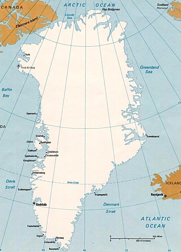Principales ciudades de Groenlandia