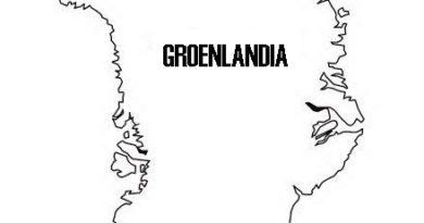 Mapa de Groenlandia para colorear
